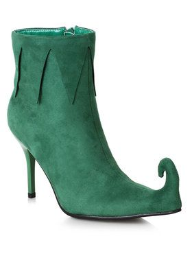 Women's 3 inch Heel Green Holiday Boot