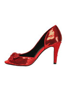 "Women's 4"" Red Sequin w/ Cutout"