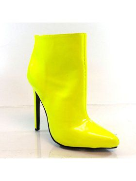 "Women's 5 1/4"" Pointed Toe Sexy Ankle Covered Bootie"