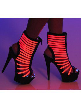 """Women's 6"""" Bootie With Front Zipper And Up Reactive Neon Straps"""