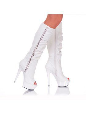 "Women's 6"" Knee High Platform Boot With Side Rocker Metal"