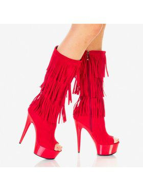 "Women's 6"" Micro Suede Fringe Boot"