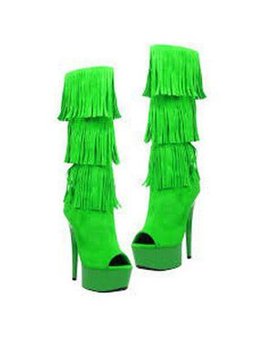 """Women's 6"""" Micro Suede Western Style Fringe Boot"""
