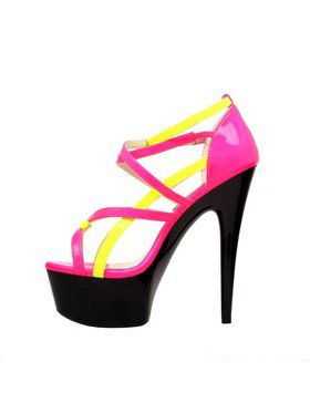 "Women's 6"" Strappy Platform Sandal With Ankle Strap"