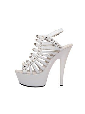 "Women's 6"" Strappy Platform With Stud Detail And Ankle Strap"