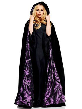 "Womens 63"" Deluxe Black Velvet W/ Purple"