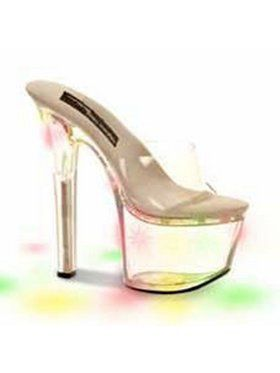 "Women's 7"" Clear Vamp & Quarter Strap With Light Up Bottom"