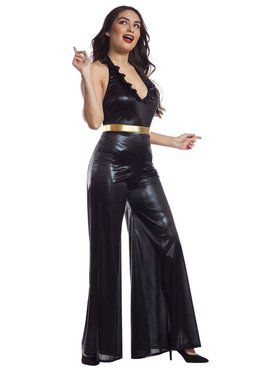 Women's 70's Black Jumpsuit