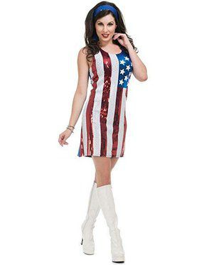 American Flag Sequin Dress