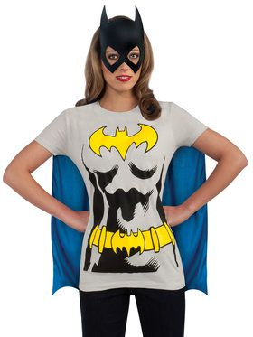 Women's Batgirl T-shirt Costume Kit