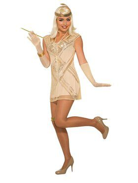 Womens Beaded Flapper Costume