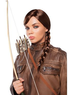 Womens Braided Brown Wig Standard One-Size