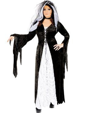 Womens Bride Of Darkness Adult Plus Cos