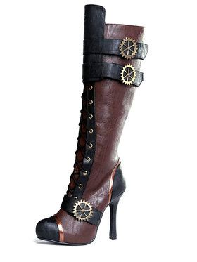 Steampunk Brown Boot Women's Accessory