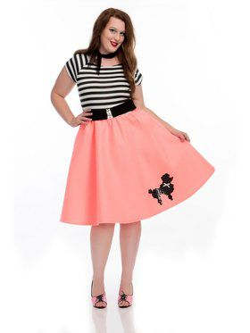 Women's Bubblegum Poodle Dress - Plus