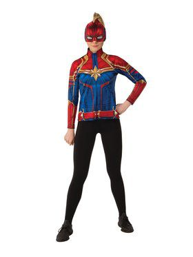 Womens Captain Marvel Hero Suit Costume Top