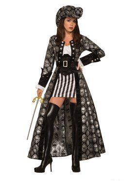 Captain Silva Blackskull Costume for Adults
