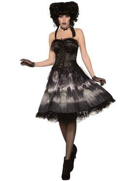 Cemetery Doll Dress Costume for Adults