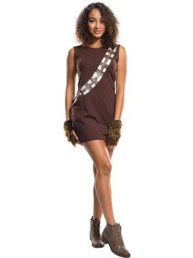 Womens Chewbacca Rhinestone Tank Dress