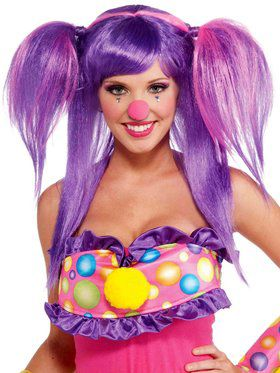 Womens Circus Sweetie Berry Bubbles Wig