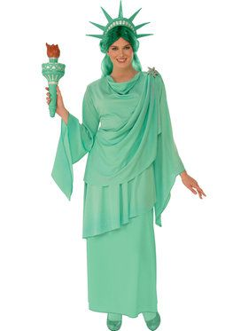 Classic Lady Liberty Womens Costume