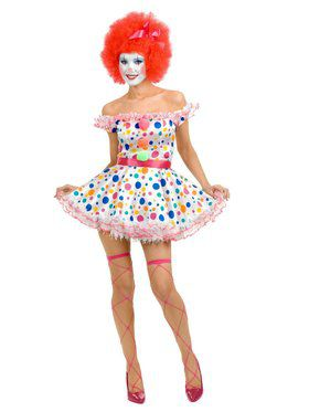 Women's Clownin Around Adult Costume