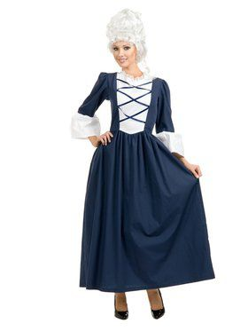 Womens Colonial Lady Costume