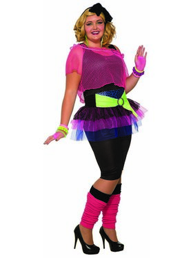 Womens Curvy 80'S Girl Costume