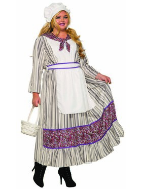 Womens Curvy Pioneer Woman Costume
