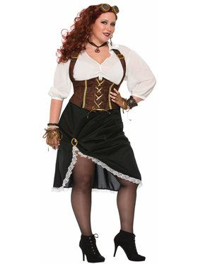 Curvy Steampunk Lady Costume for Women
