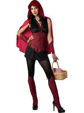 Womens Dark Forest Red Riding Hood Costume