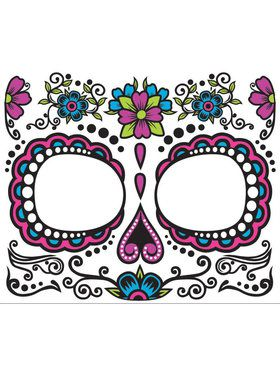 Womens Day Of The Dead Face Tattoo