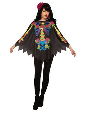 Womens Day Of The Dead Poncho