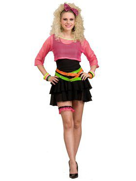 Womens Deluxe 80s Groupie Costume