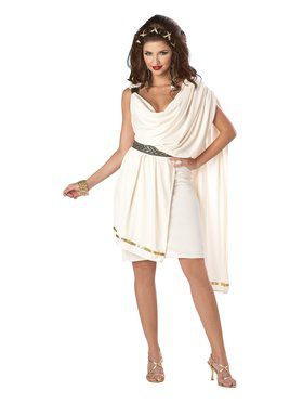 Womens Deluxe Classic Toga Adult Costum