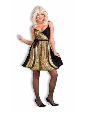 Womens Deluxe Disco Gold Costume