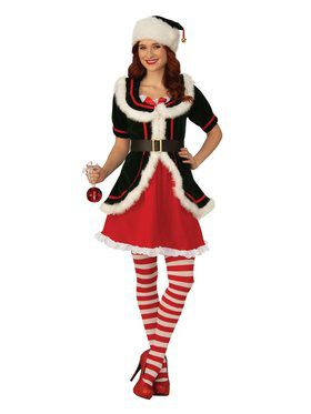 Womens Deluxe Elf Costume