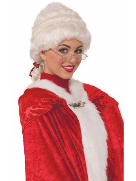 Womens Deluxe Mrs. Claus Wig