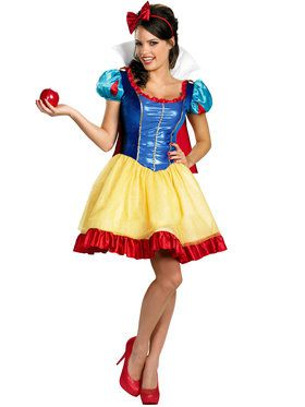 Womens Deluxe Sassy Snow White Costume