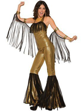 Disco Queen Gold Jumpsuit for Women