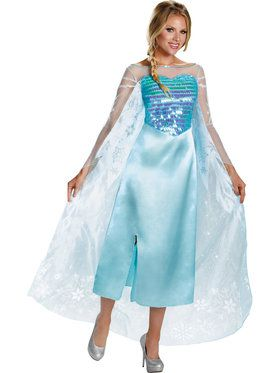 Disneys Frozen Womens Elsa Deluxe Costu