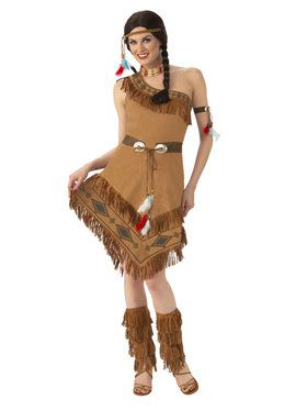 Super Deluxe Native American Maiden Womens Costume