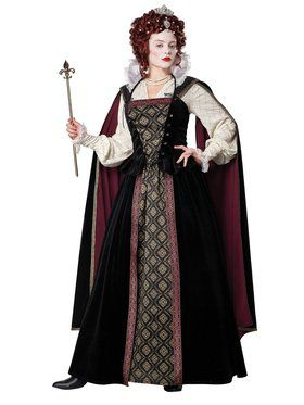 Elizabethan Queen Womens Costume