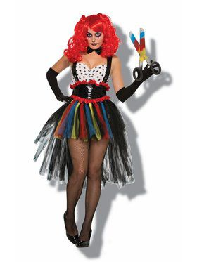 Women's Evil Clown Costume