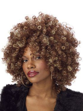 Women's Fine Foxy Brown & Blonde Fro Wig
