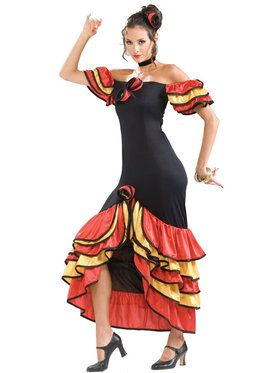 Women's Flamenco Dancer Costume