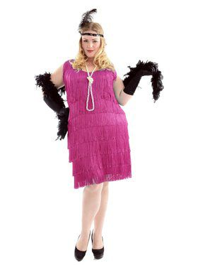 Women's Fuscia Flapper Plus