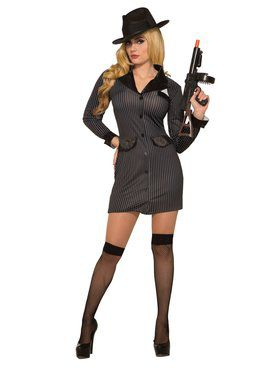 Gangster Girl Costume for Women