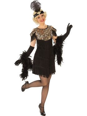 Gold Flapper Girl Womens Costume