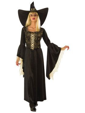 Women's Gold Web Witch Costume